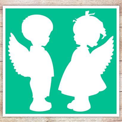 Трафарет Два ангелочка
