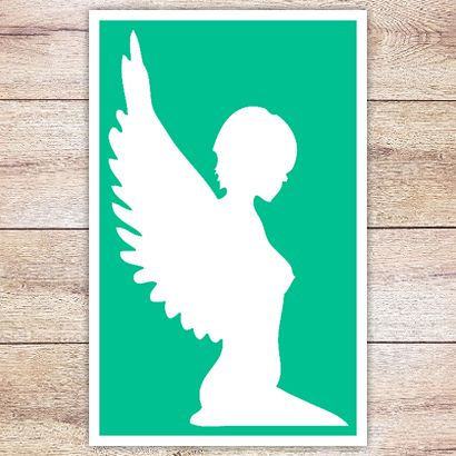Трафарет Грациозный ангел