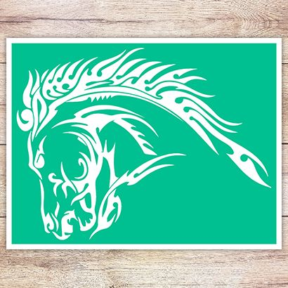 Трафарет Арабская лошадь