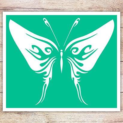 Трафарет Кельтская бабочка