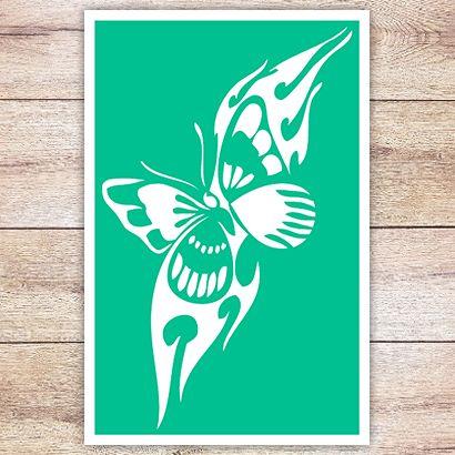 Трафарет Бабочка в кельтском стиле