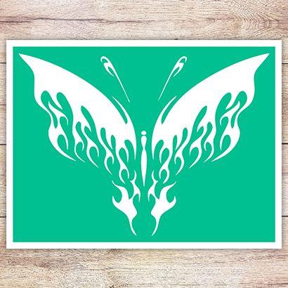 Трафарет Огненная бабочка