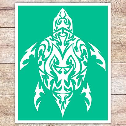 Трафарет Черепаха в кельтском стиле
