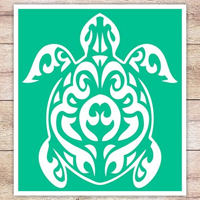 Трафарет Черепаха маори