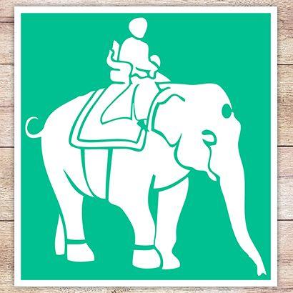 Трафарет Цирковой слон