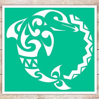 Трафарет Дельфин в кельтском стиле