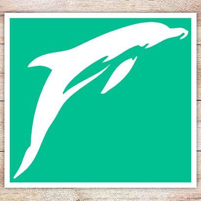 Трафарет Классический дельфин