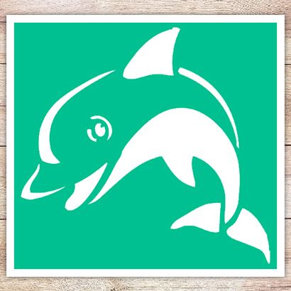 Трафарет Веселый дельфин