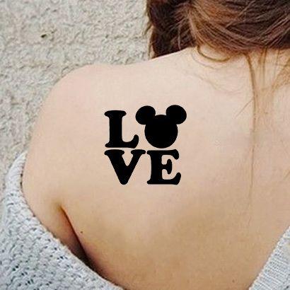 Многоразовый трафарет Любовь и Микки 802-48-931 на теле