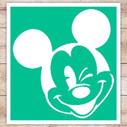Трафарет Подмигивающий Микки Маус
