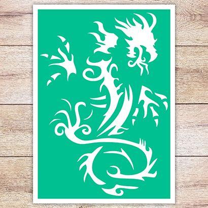 Трафарет Дракон в кельтском стиле