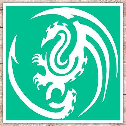Трафарет Остроконечный дракон