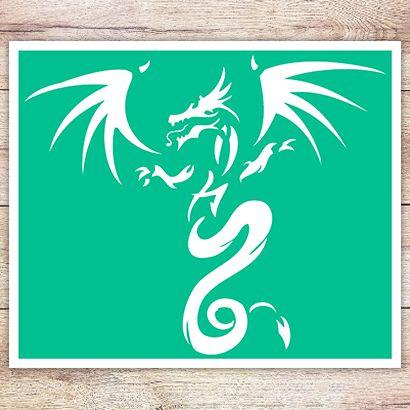 Трафарет Порхающий дракон