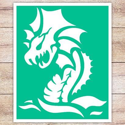 Трафарет Водяной дракон