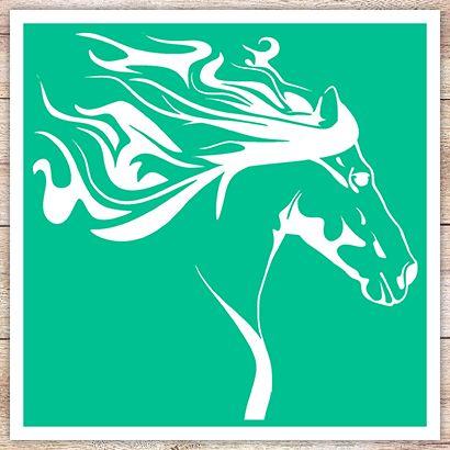 Трафарет Грива лошади