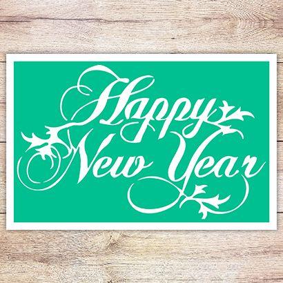 Трафарет Счастливого Нового Года