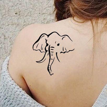 Многоразовый трафарет Индийский слон 444-01-414 на теле