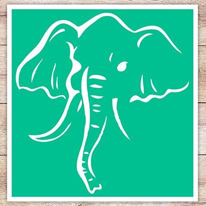 Трафарет Индийский слон