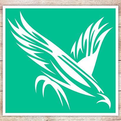 Трафарет Птица в кельтском стиле