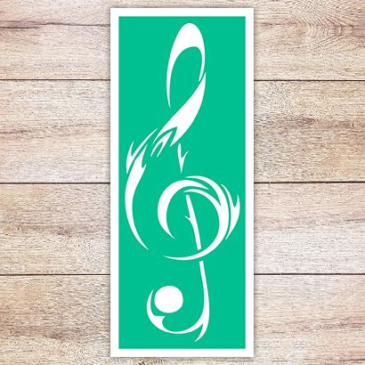 Трафарет Кельтский скрипичный ключ
