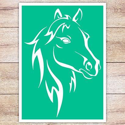 Трафарет Классическая лошадь
