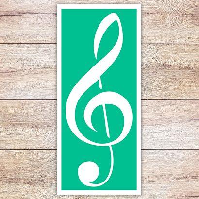 Трафарет Классический скрипичный ключ