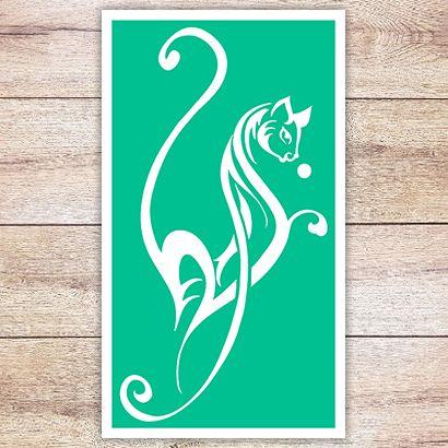 Трафарет Элегантная кошка