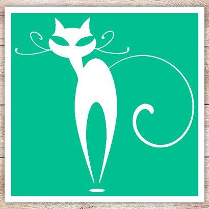 Трафарет Изогнутая кошка
