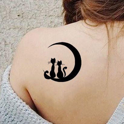Многоразовый трафарет Котята на Луне 639-24-172 на теле