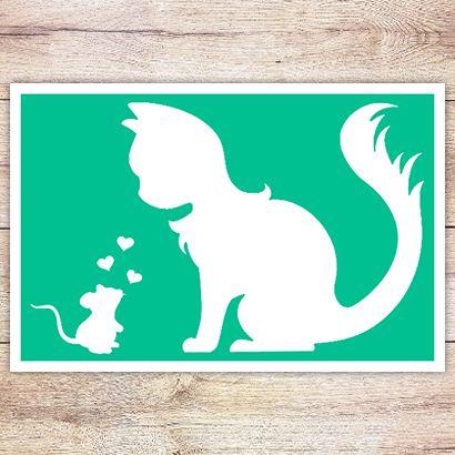 Трафарет Кошки-мышки