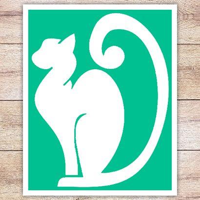 Трафарет Породистая кошка