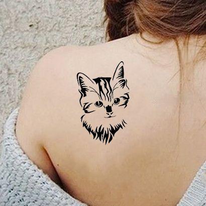 Многоразовый трафарет Сибирская кошка 639-26-172 на теле