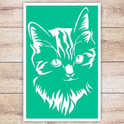 Трафарет Сибирская кошка