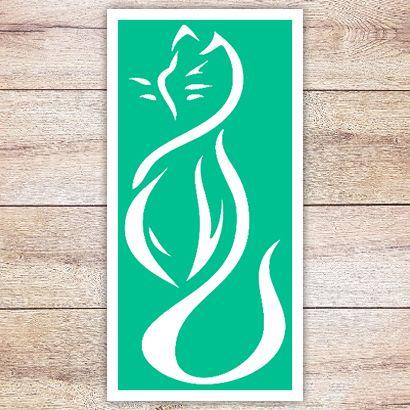 Трафарет Волнистая кошка