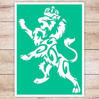 Трафарет Королевский лев
