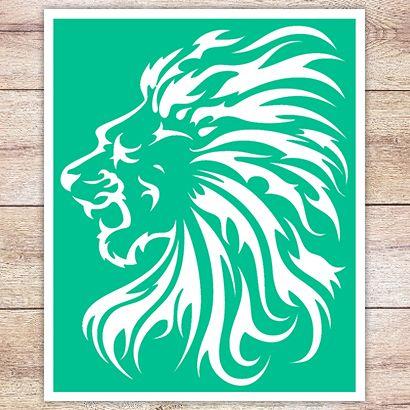 Трафарет Пламенная грива льва