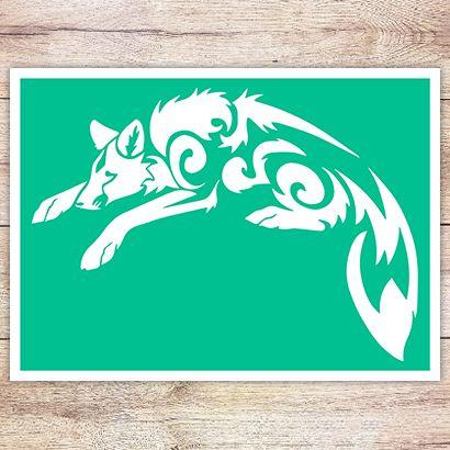 Трафарет Американская лисица