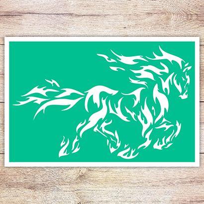 Трафарет Фризская лошадь