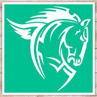 Трафарет Лошадь в кельтском стиле