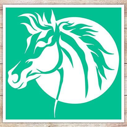 Трафарет Лошадь и Луна
