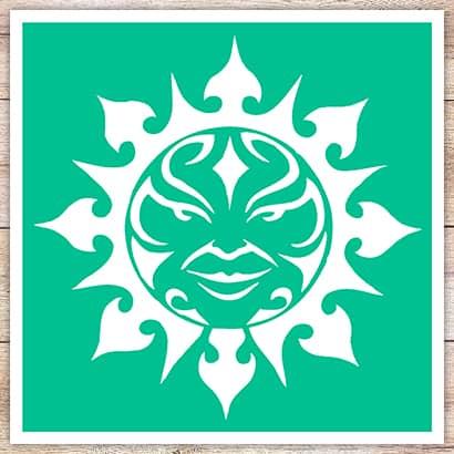 Трафарет Лучезарное солнце