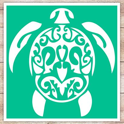 Трафарет Морская черепаха