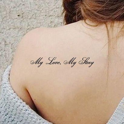 Многоразовый трафарет My love, My story 092-13-926 на теле