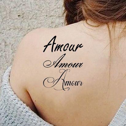 Многоразовый трафарет Надпись Amour 3 вариации 092-06-926 на теле