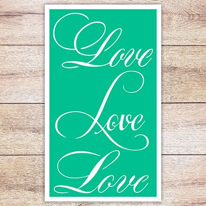 Трафарет Надпись Love 3 вариации