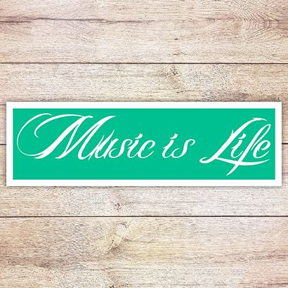 Трафарет Надпись Music is life