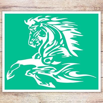 Трафарет Огненная лошадь