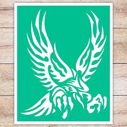 Трафарет Охота орла