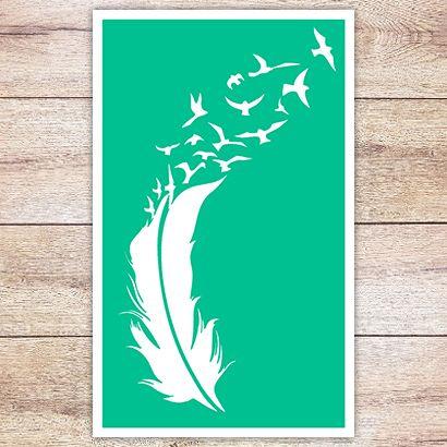 Трафарет Перо перелетных птиц