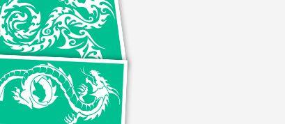 Трафареты с эскизами драконов